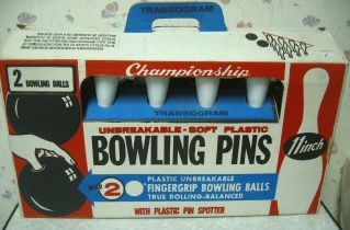 Toys from 1960s- Bowling Set