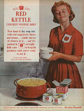 Red Kettle Soup Print Ad 1962